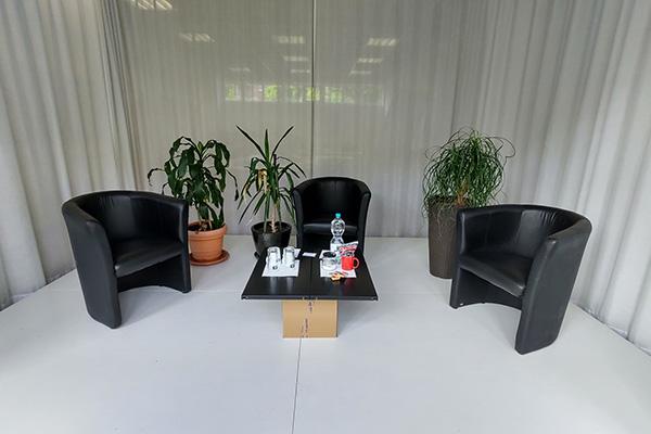 Büroräume von thiemwork, kurz vor einem Bewerbungsgespräch.